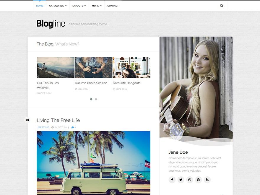 Blogline wallpapers WordPress theme