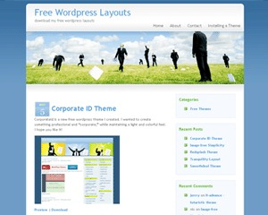Bluebusiness business WordPress theme