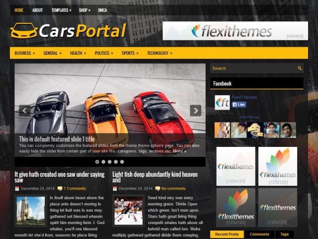 CarsPortal WordPress theme