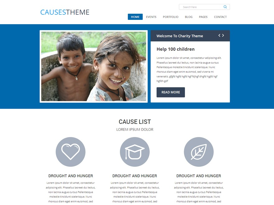 Causes WordPress template for business