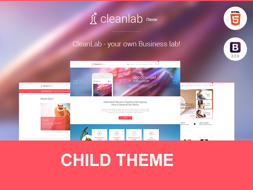 CleanLab Child Theme template WordPress by ThemeFuzz
