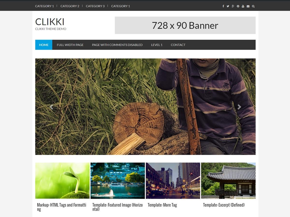 Clikki free website theme