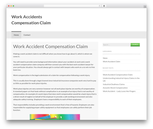 Coller theme WordPress - workaccidentscompensationclaim.co.uk