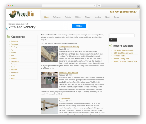 Customizr template WordPress free - woodbin.com