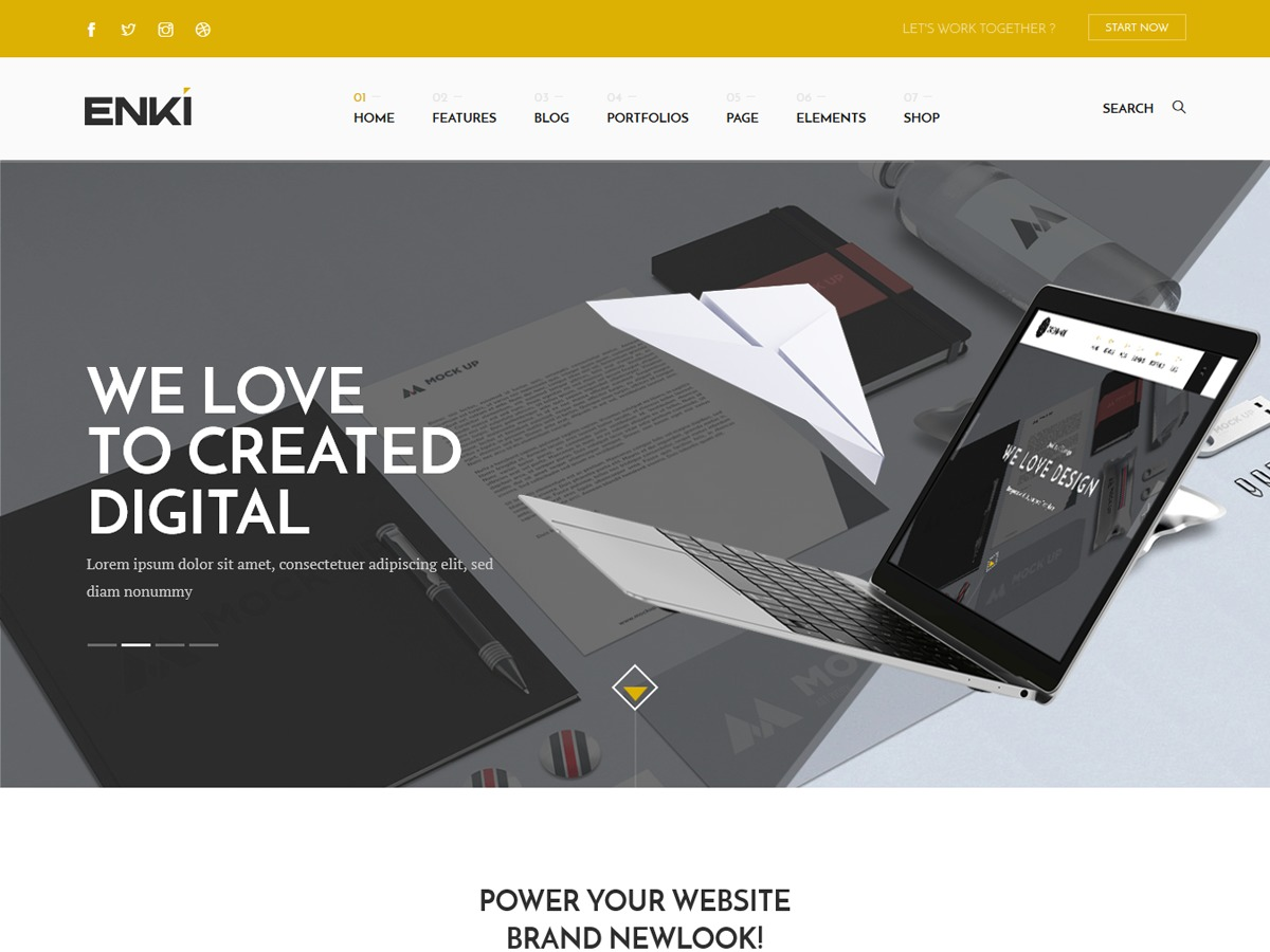 Enki company WordPress theme