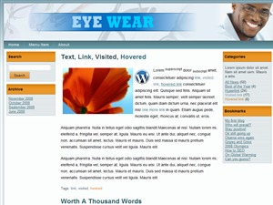 Eyewear WordPress ecommerce template