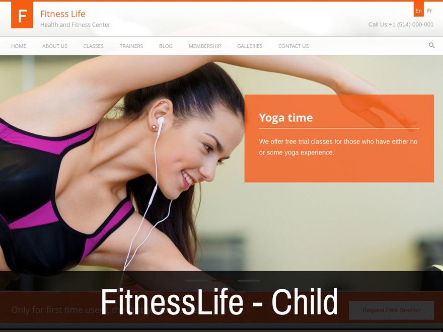 Fitness Life Child Theme fitness WordPress theme