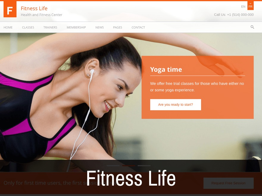 Fitness Life fitness WordPress theme