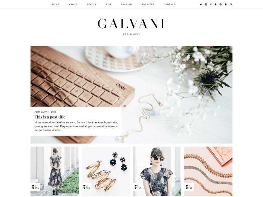 Galvani (pipdig) WordPress theme