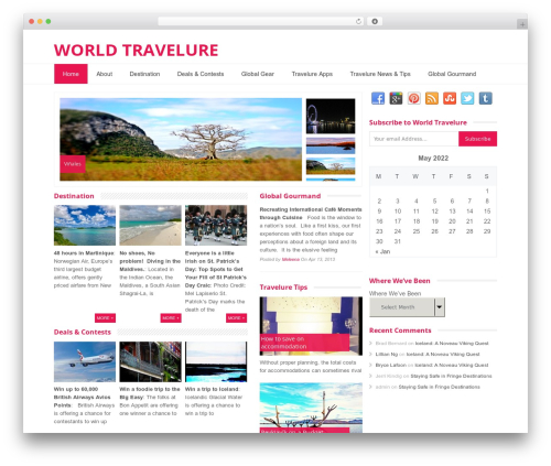 Glamour WordPress template - worldtravelure.com