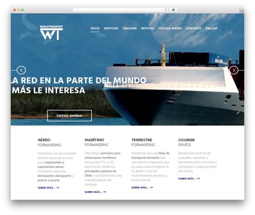 Global Logistics WordPress template - worldtransport.cl