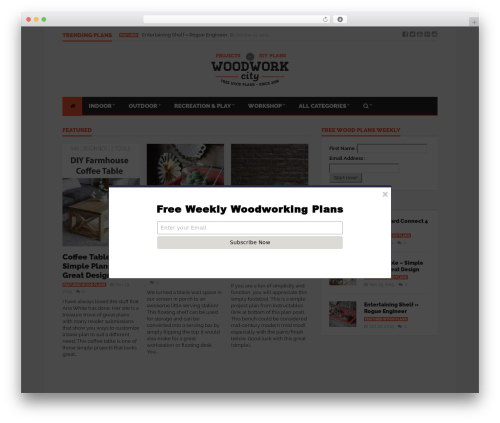 Goliath WordPress theme - woodworkcity.com