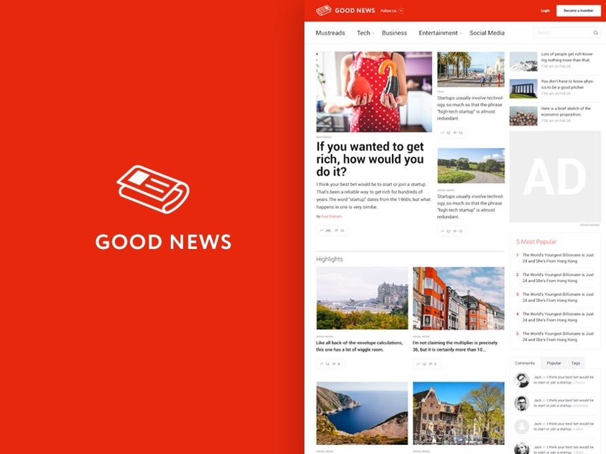 Good News - Multi-Niche Blog / Magazine WordPress Theme WordPress blog theme