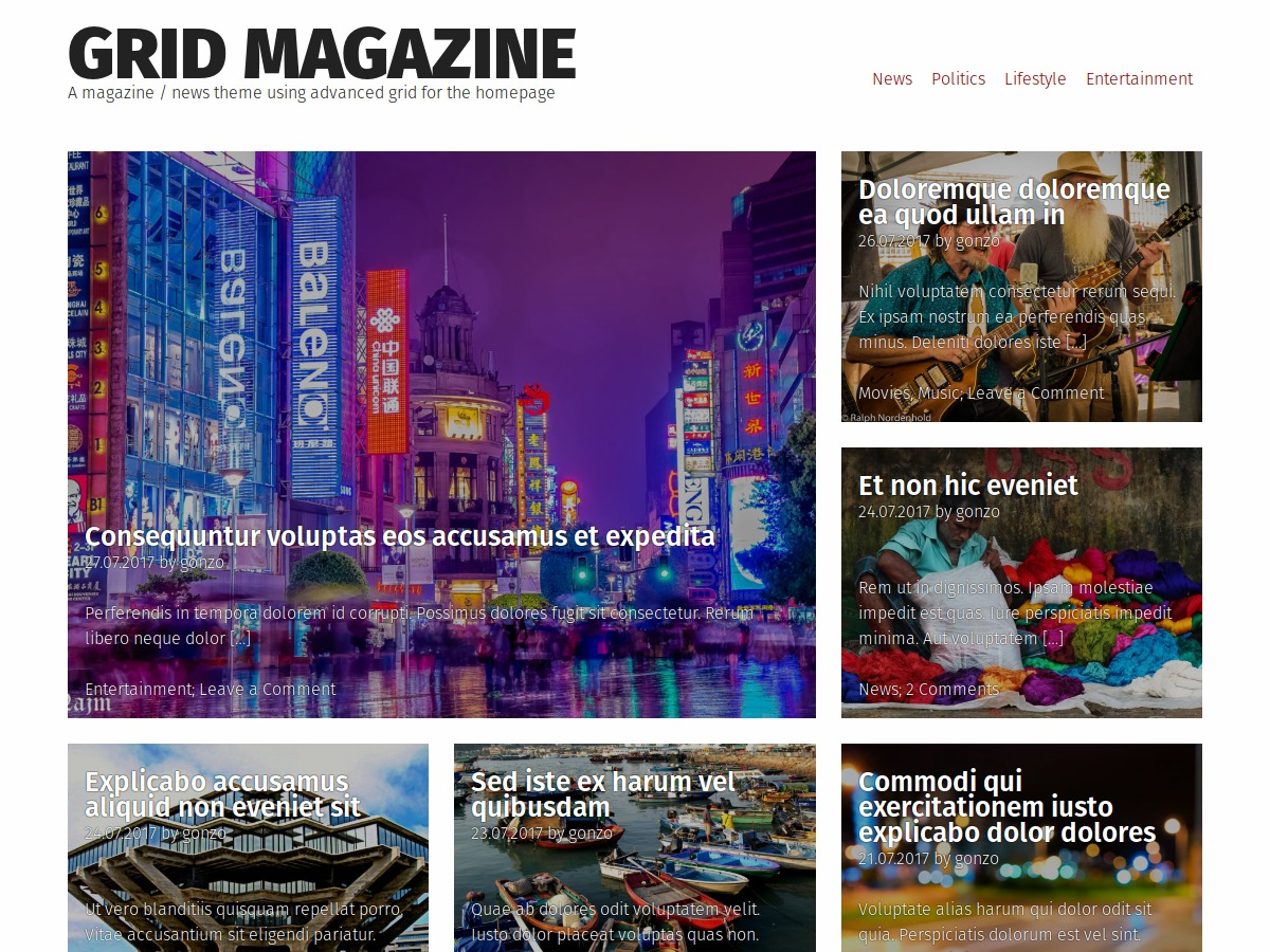 Grid Magazine WordPress theme download