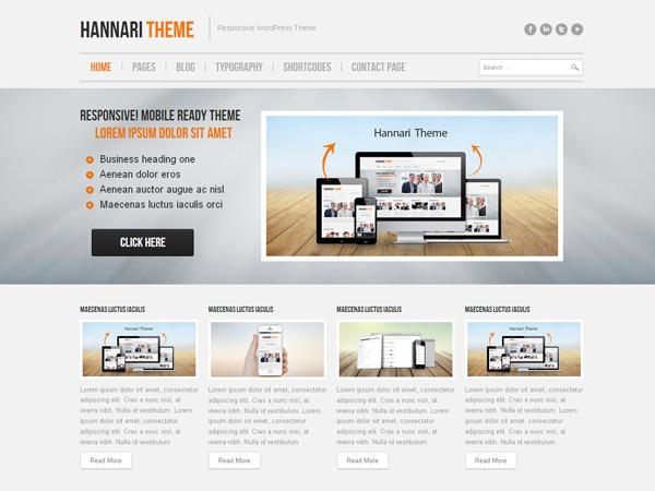 Hannari PRO top WordPress theme