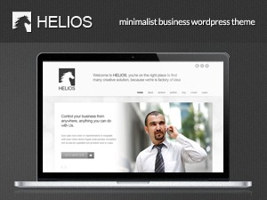 Helios WordPress website template