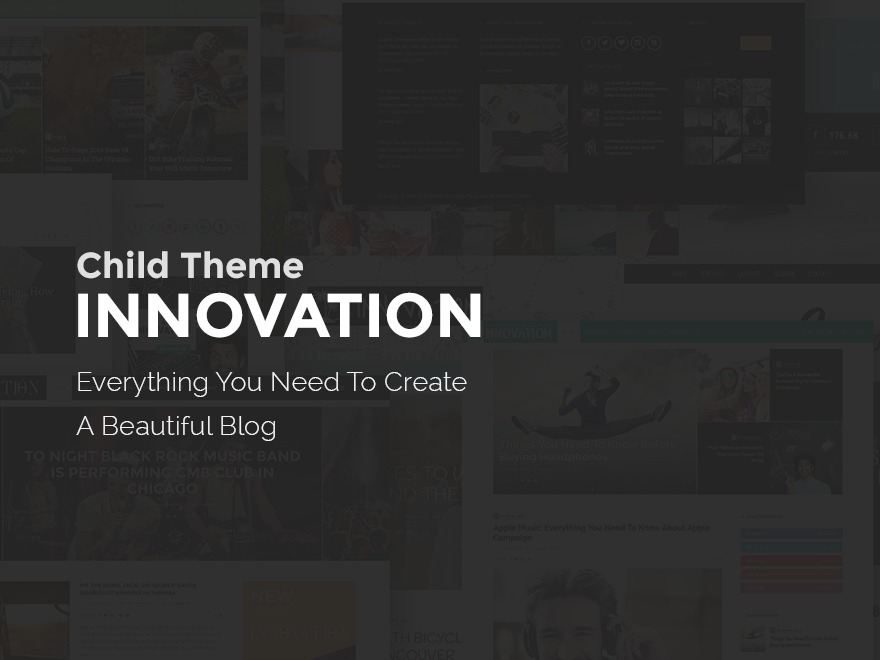 innovation child top WordPress theme