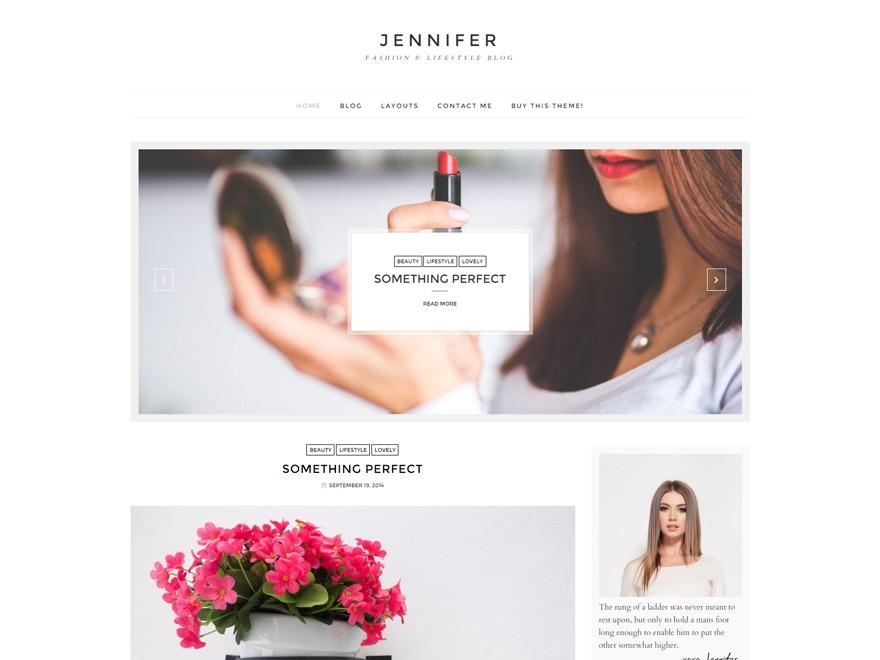 jennifer WordPress blog theme