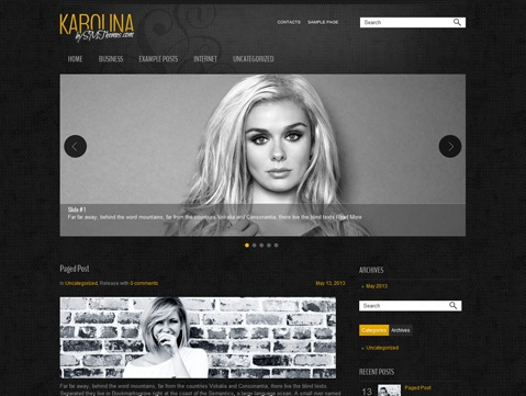 Karolina WordPress template