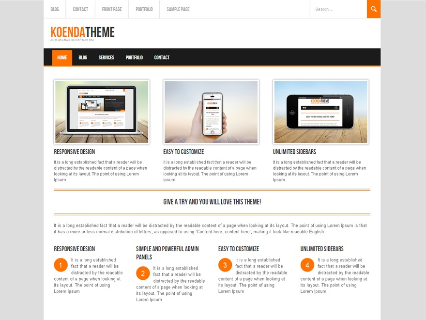Koenda company WordPress theme