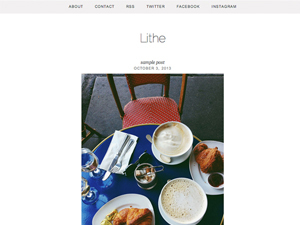 lithe WordPress template