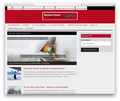 Magazine Pro Theme WordPress news template - womentravelnz.com