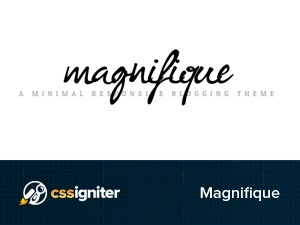 Magnifique WordPress blog template