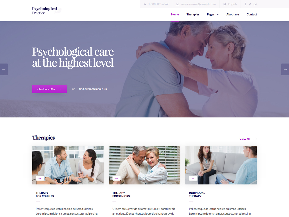 Martanian - Psychological Practice best WordPress theme