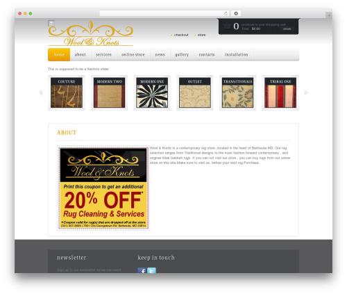 Mazine WordPress template - woolandknots.com
