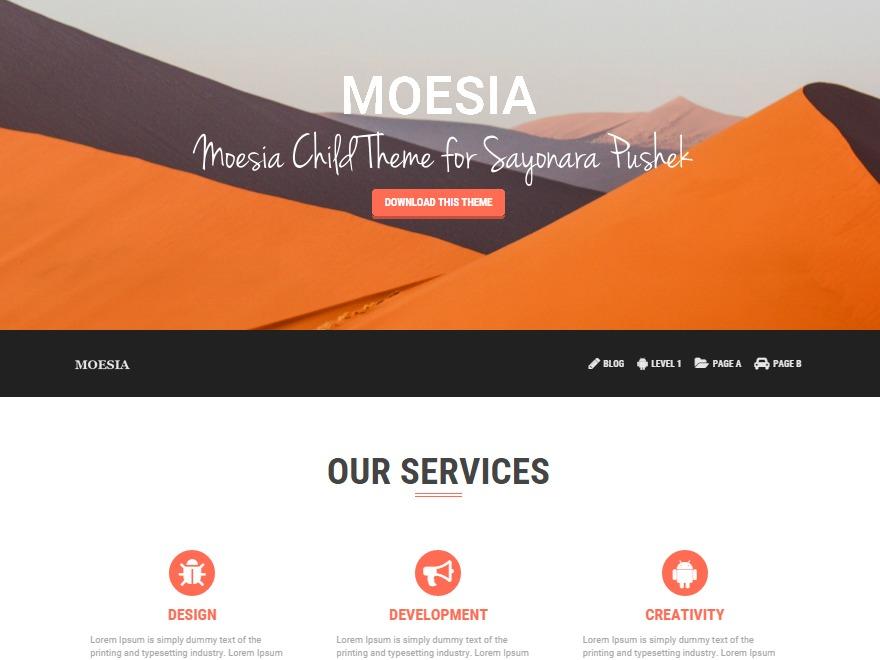 Moesia Child WordPress theme