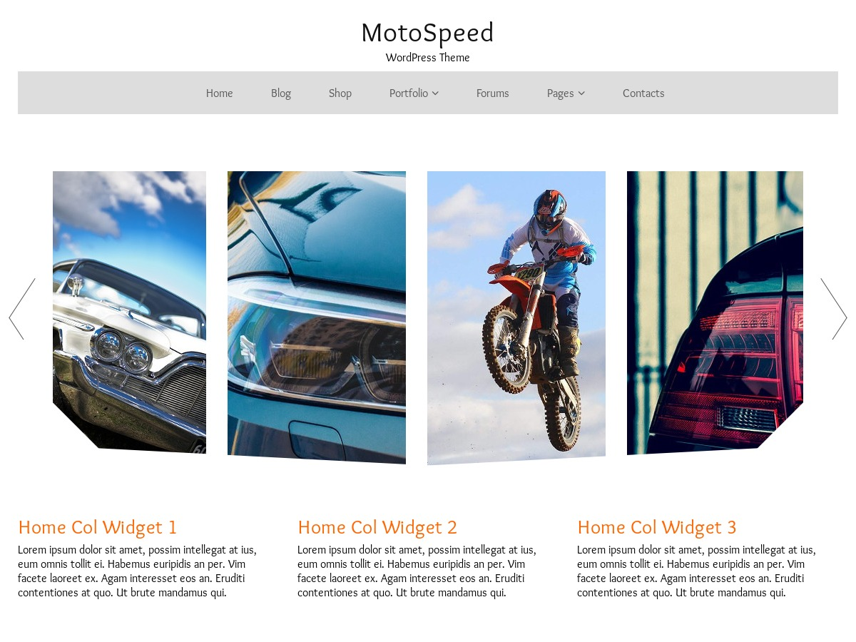 MotoSpeed free WP theme