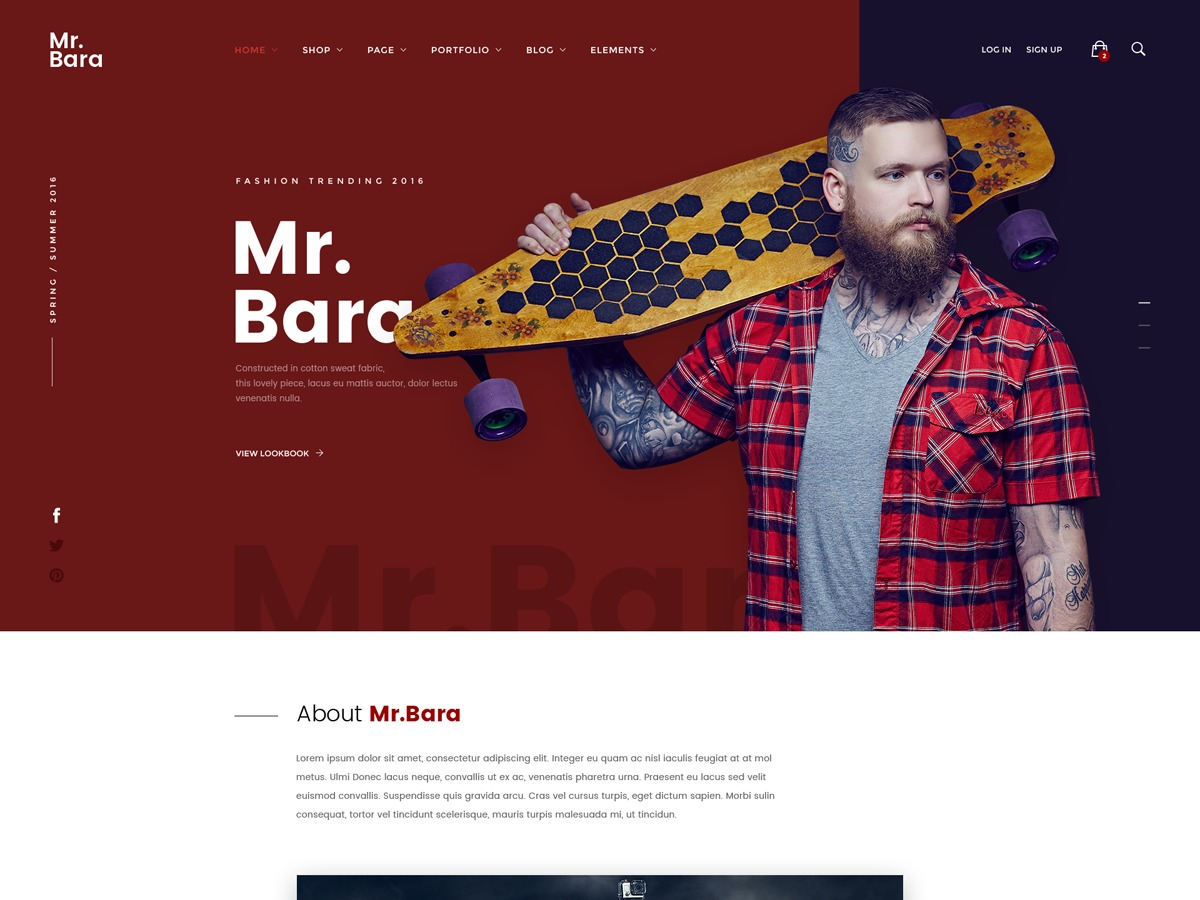 MrBara WordPress shop theme