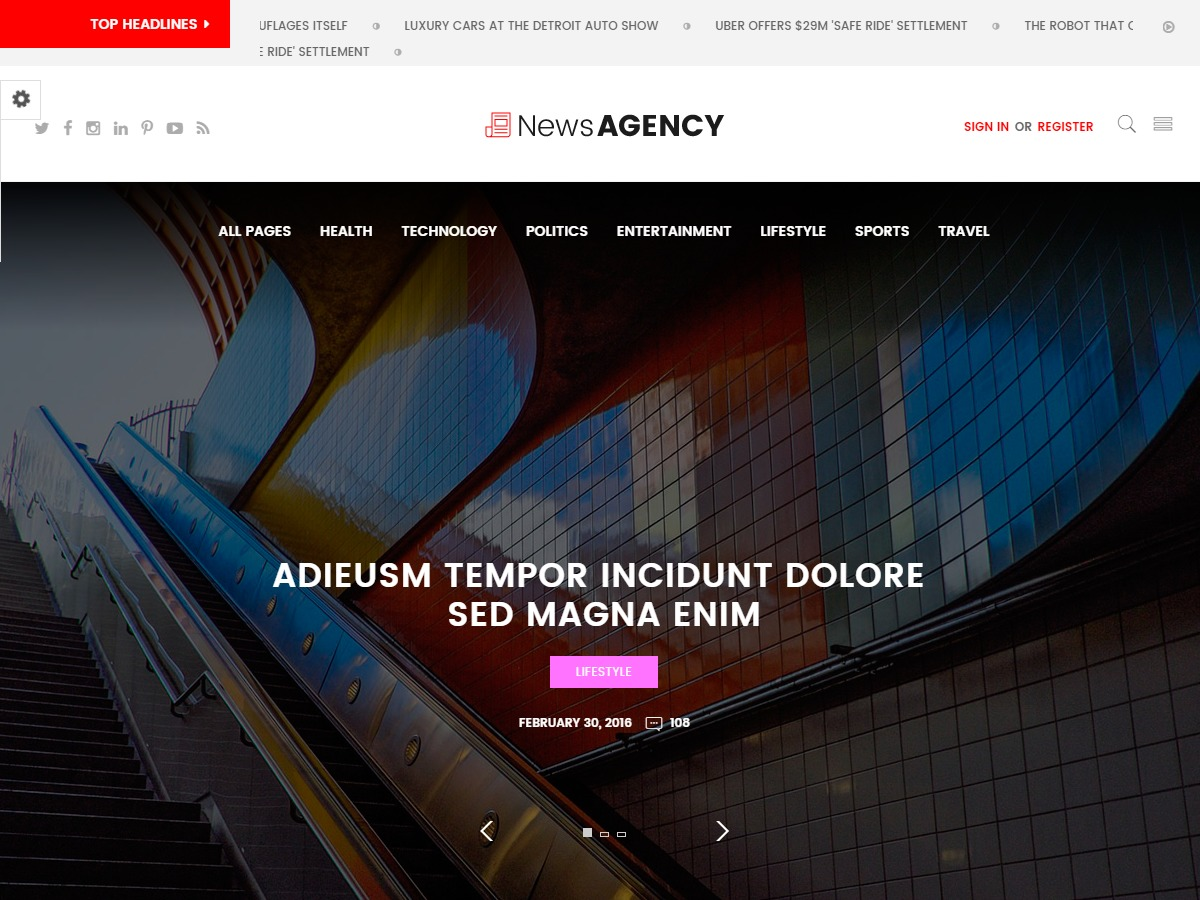 News Agency WordPress magazine theme