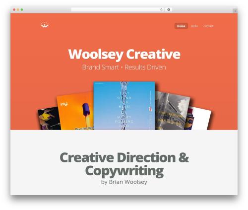 Nimble premium WordPress theme - woolseycreative.com