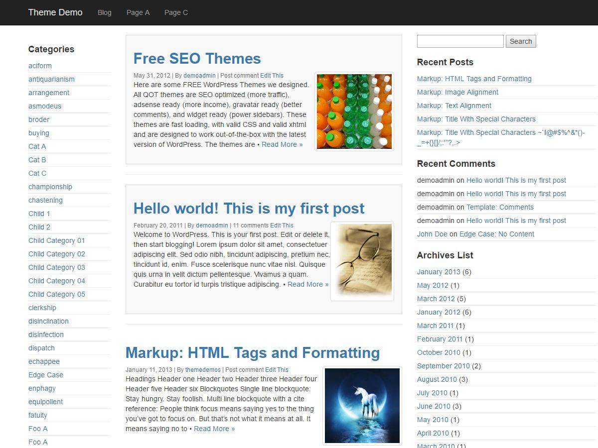 QuickStrap WordPress free download