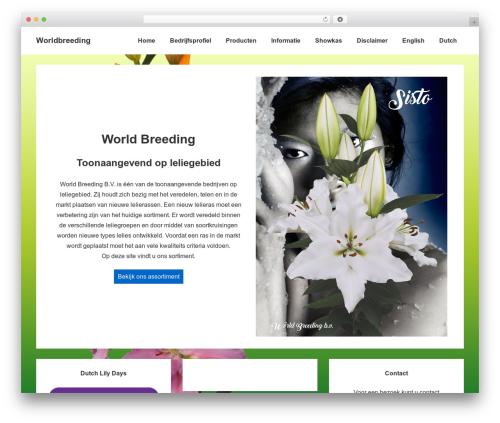 Responsive free WP theme - worldbreeding.nl