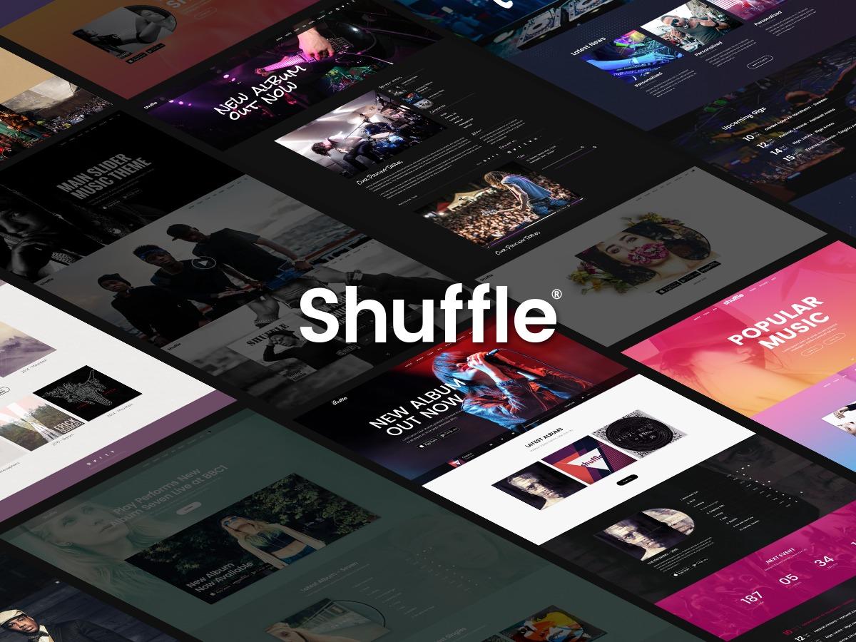 Shuffle WordPress website template
