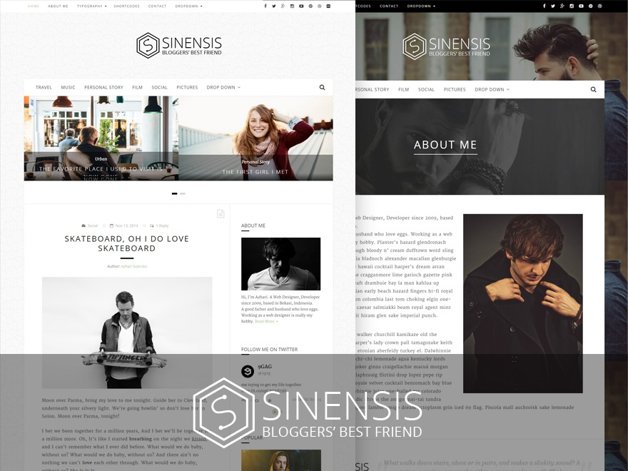 Sinensis WordPress blog theme