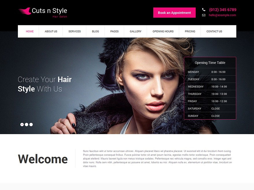 SKT Cutsnstyle Pro WordPress shopping theme