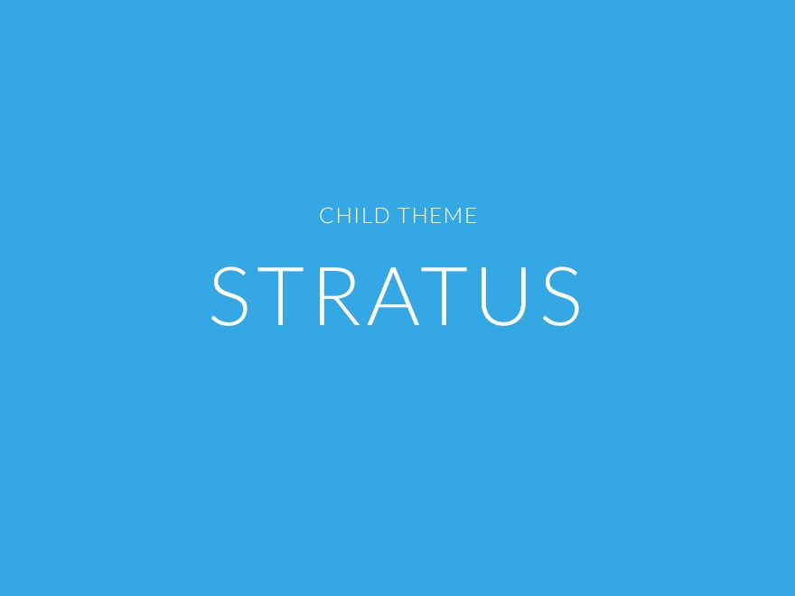 Stratus Child Theme WordPress page template