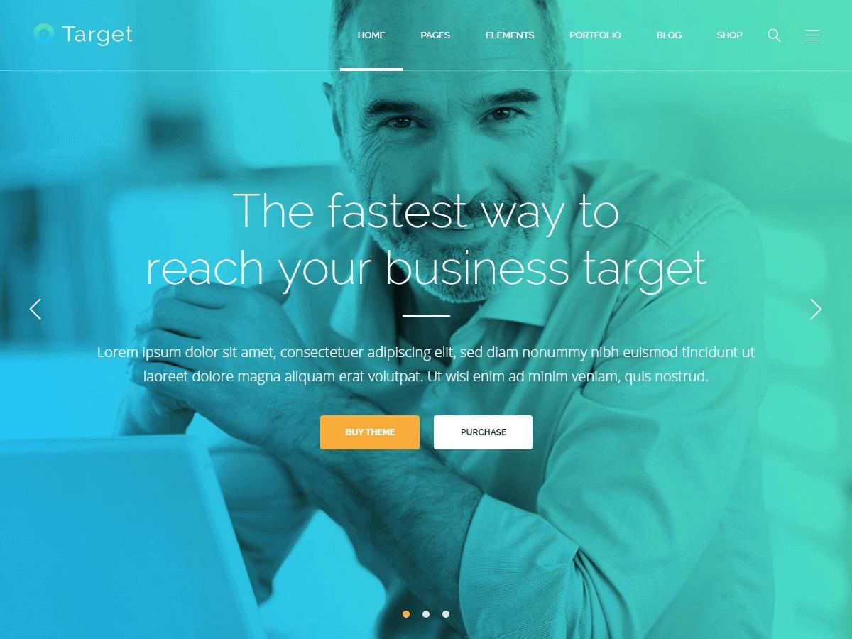 Target business WordPress theme