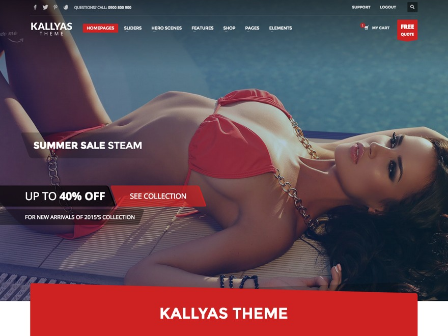 Template WordPress Kallyas (shared on wplocker.com)