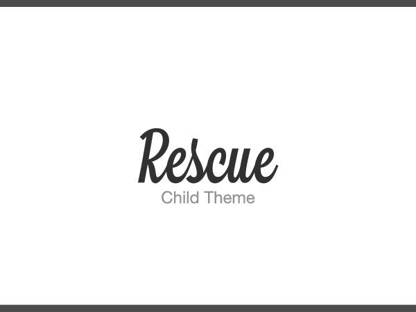 Template WordPress Rescue Child Theme
