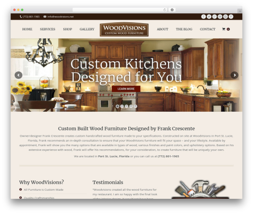 The7 business WordPress theme - woodvisions.net