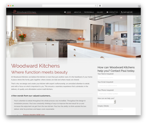 The7 theme WordPress - woodwardkitchens.com