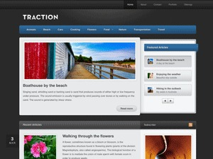 Traction WordPress magazine theme