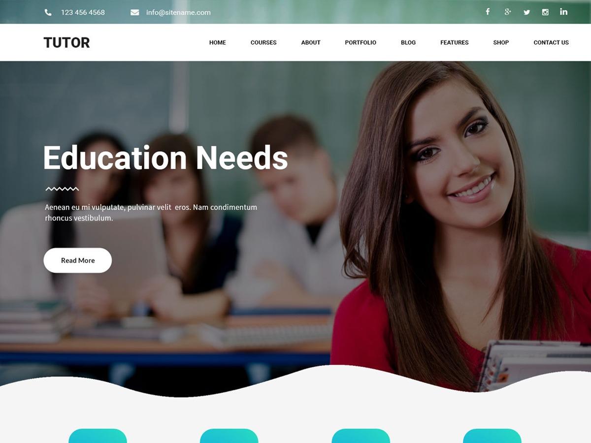 tutor WordPress template