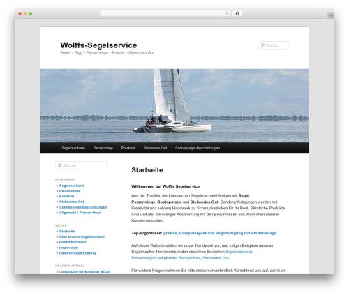 Twenty Eleven best free WordPress theme - wolffs-segelservice.de