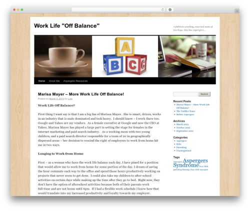 Twenty Ten free WP theme - worklifeoffbalance.com