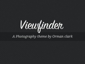 Viewfinder WordPress template for photographers